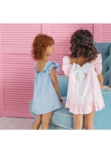 Pinolini Mavi Oxford Elbise Mavi